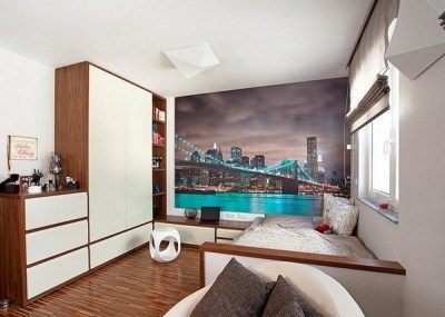 Teen bedroom wall decoration ideas – cool photo wallpapers and decals