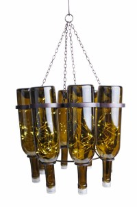 Wine bottle chandelier creative upcycling ideas for ...