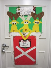 Christmas door decorations - ideas for the front and ...