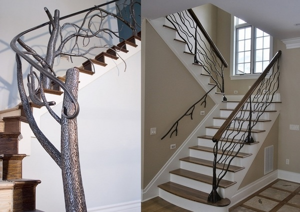 Unique Wrought Iron Banister Ideas Inspired By Nature