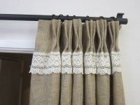 The simple beauty of burlap curtains  natural tones in ...