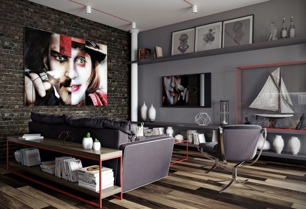 Black and grey living room ideas  modern home interiors