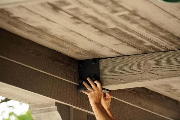 Faux Wood Beams An Attractive And Easy Solution For