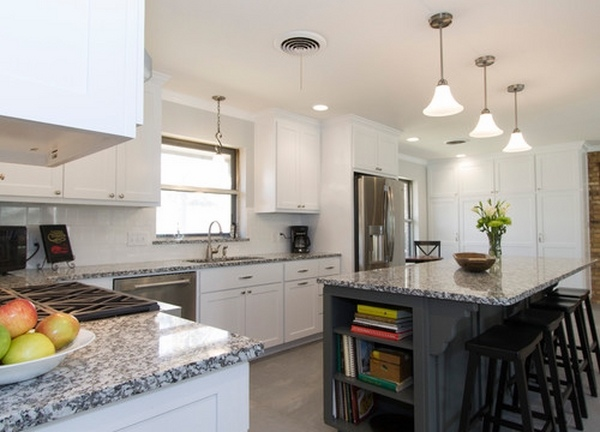 Luna pearl granite countertops give your kitchen a