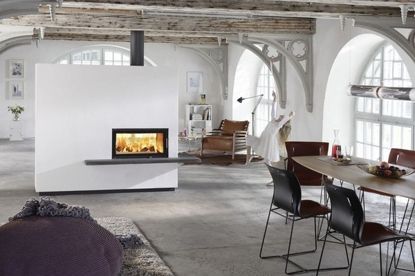 Exclusive Double Sided Fireplace Design Ideas In Modern