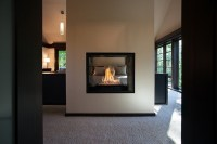 Exclusive double sided fireplace design ideas in modern ...