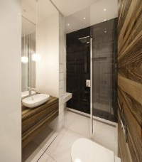 A hot trend in bathroom design  modern curbless shower ...
