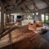 Reclaimed wood floors combine unique individuality and