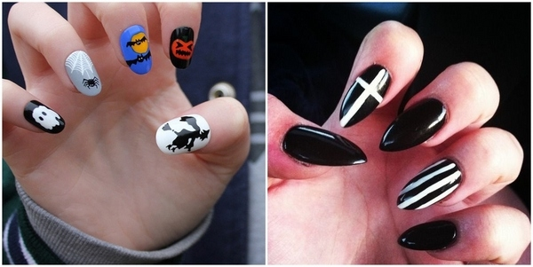 Halloween acrylic nails \u2013 the best Halloween nail art ideas