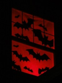 Halloween window silhouettes  DIY ideas and useful decor tips