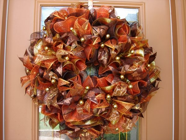 Fall Deco Mesh Wreath Ideas Inspiring Autumn Decor For