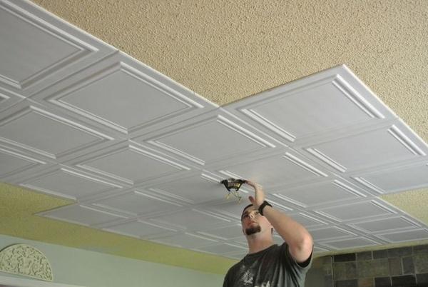 Styrofoam ceiling tiles  awesome ceiling design ideas