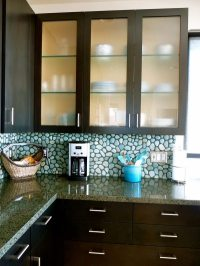 Glass kitchen cabinet doors  modern cabinets design ideas