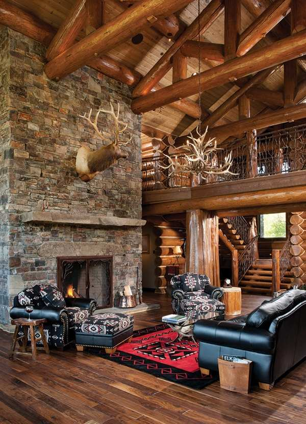 Emejing Log Cabin Living Room Images - Rugoingmyway.us ...