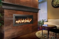 Chic linear fireplace ideas  modern fireplaces with great ...