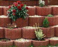Retaining wall ideas  concrete planters as a supporting ...