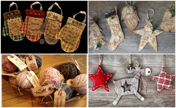 primitive christmas tree ornaments and decoration in saveenlarge 26 breathtaking diy vintage decor ideas