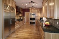 Rustic hickory kitchen cabinets  solid wood kitchen ...