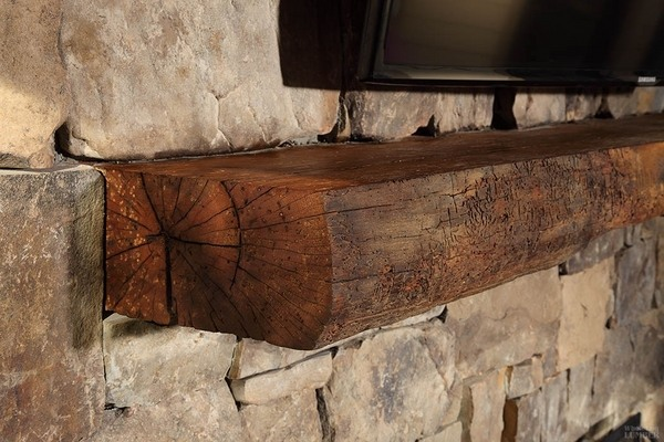Reclaimed Wood Mantel A Decorative Element With A Unique