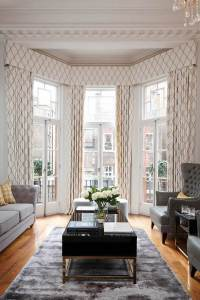 Bay window curtain pole ideas  small details with great