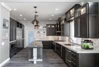 Grey hardwood floors in interior design and cool color ...
