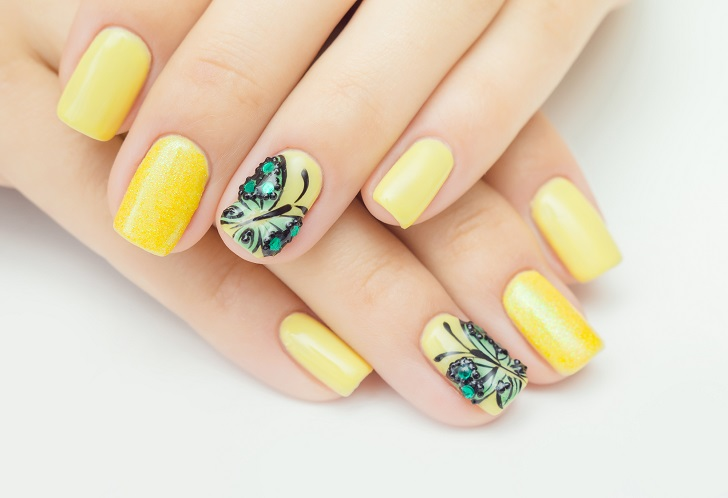 Colorful Summer Nails Ideas Adorable Butterfly Nail Art Designs