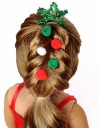 Cute Christmas hairstyles for little girls  charming ...