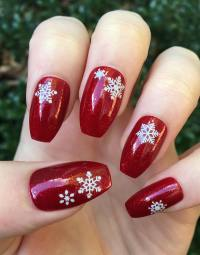 Coffin shaped nails  fashionable manicure ideas for long ...