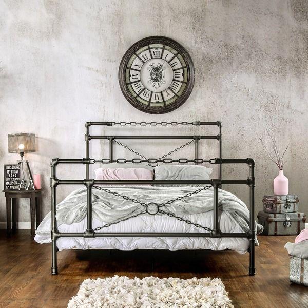 DIY bed frame  creative ideas for original bedroom furniture