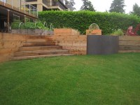 Wood retaining wall ideas  landscape designs with great ...