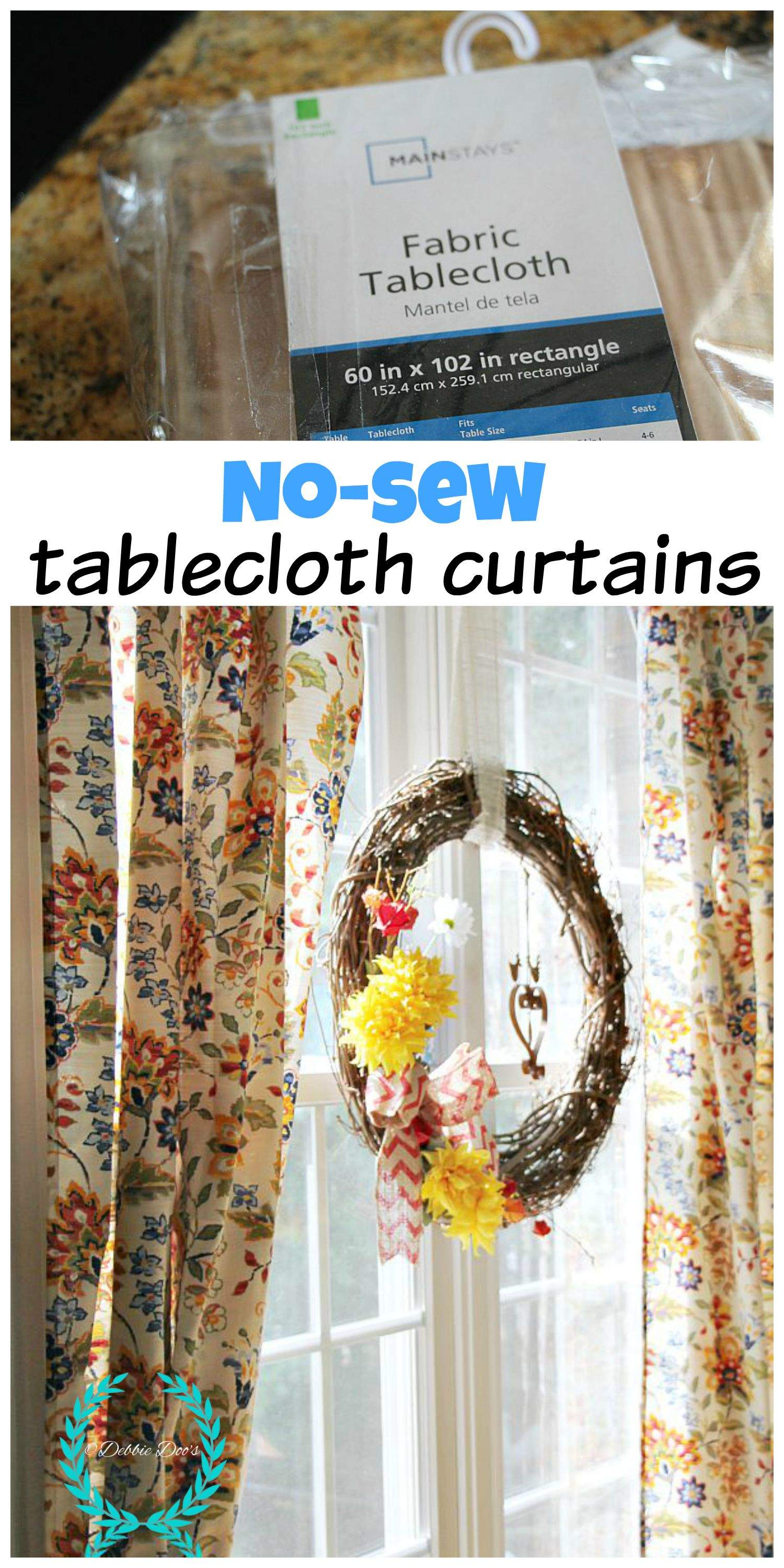 102 Inch Curtains No Sew Tablecloth Curtains Debbiedoos