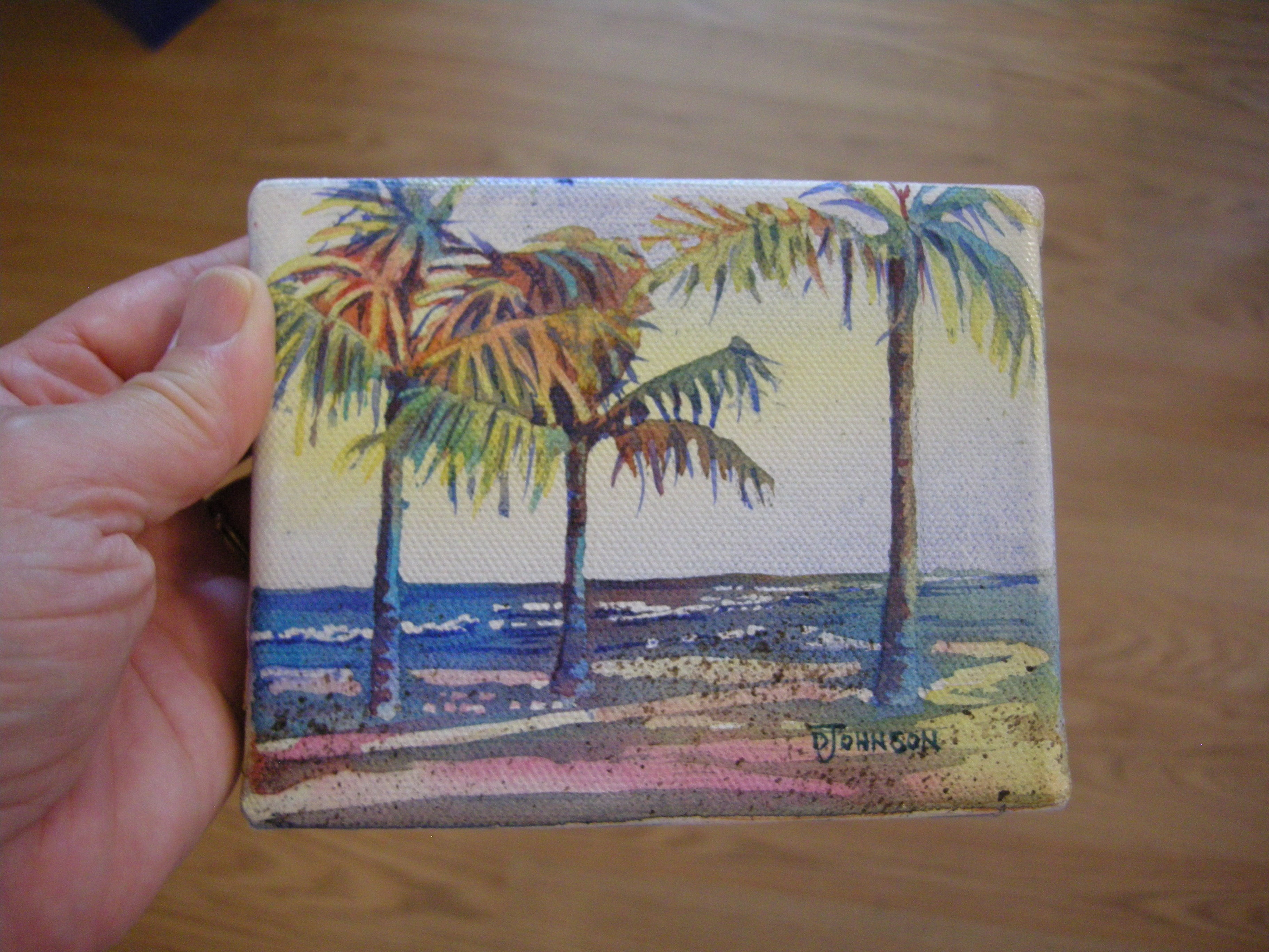 Luxurious Palms Debbie Waldorf Johnson Watercolor Pencils On Canvas Watercolor On Canvas Board Miniature Watercolor On Canvas Miniature Watercolor On Canvas inspiration Watercolor On Canvas