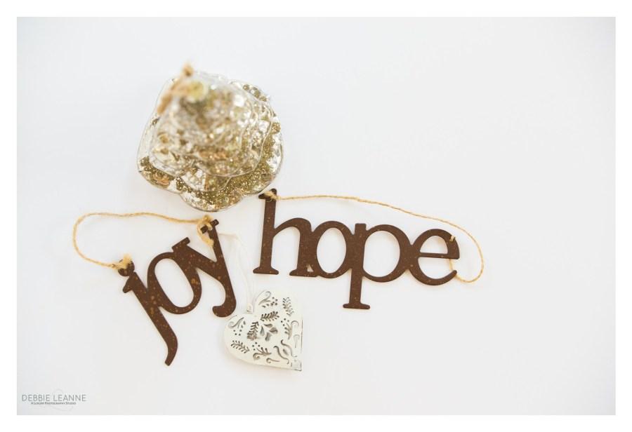 Hope Joy Love Christmas ornaments