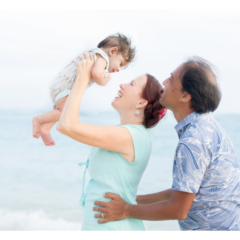 Oahu Family Photography | Family Portraits with Rainbow Baby