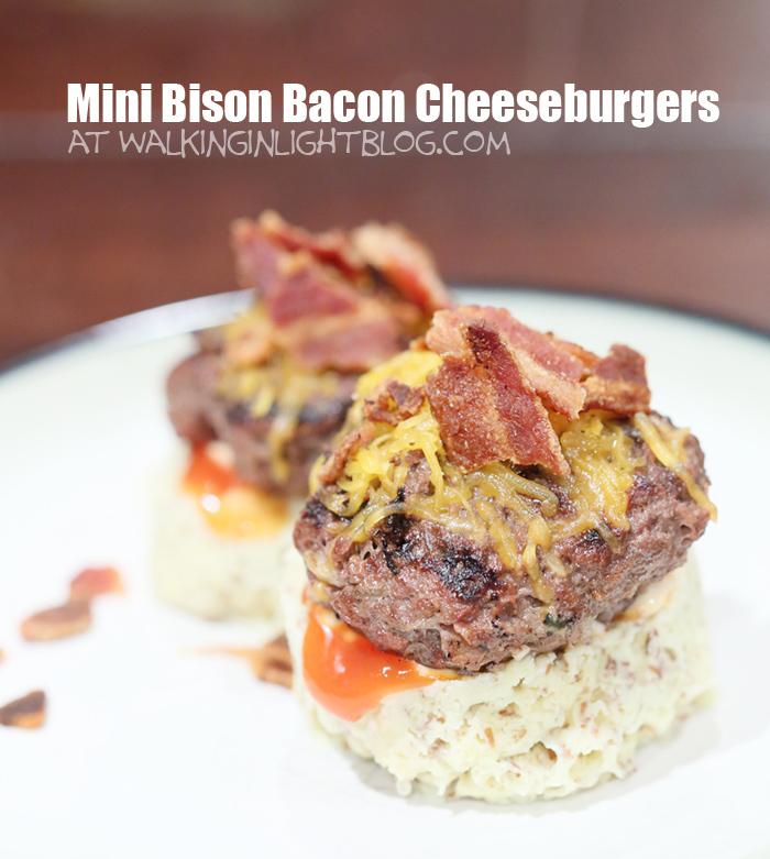 Mini Bison Bacon Cheeseburgers, Trim Healthy Mama S Recipe
