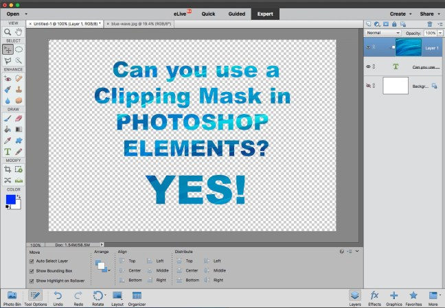 Clipping Mask Tutorial in Photoshop Elements