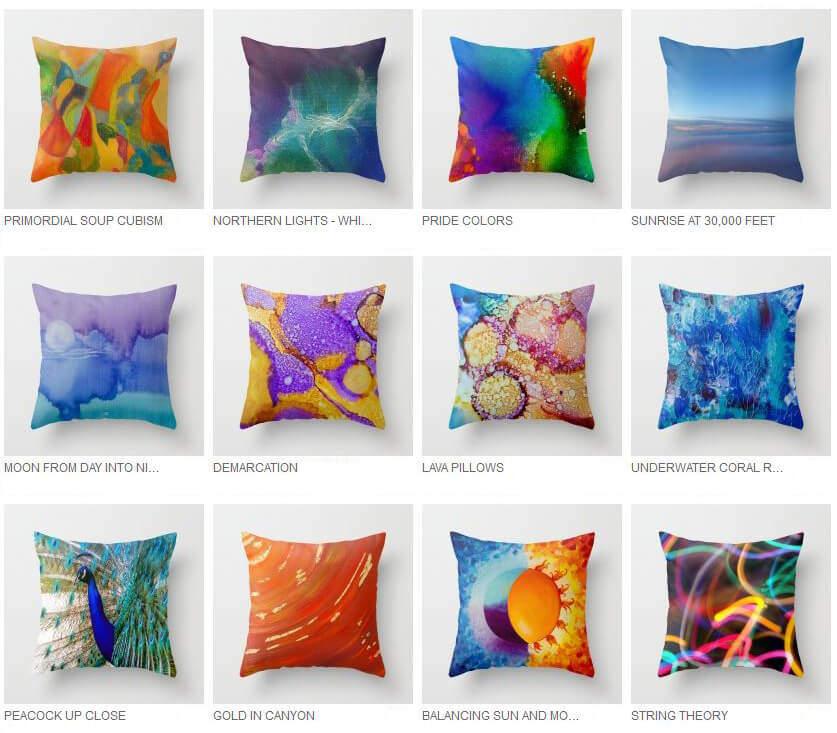 pillows and home decor by artist deb breton