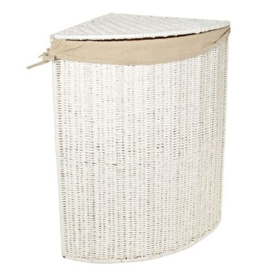 Corner Laundry Debenhams White Rope Corner Laundry Basket Ebay