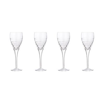 Large Crystal Wine Glasses Debenhams Set Of Four 24 Lead Crystal 39aria 39 Large Wine