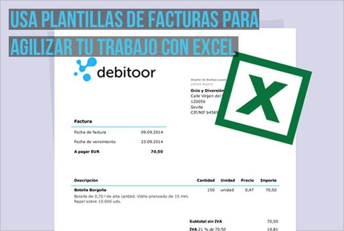 Cómo crear una factura con Excel Debitoor, programa de facturación - formatos de excel gratis