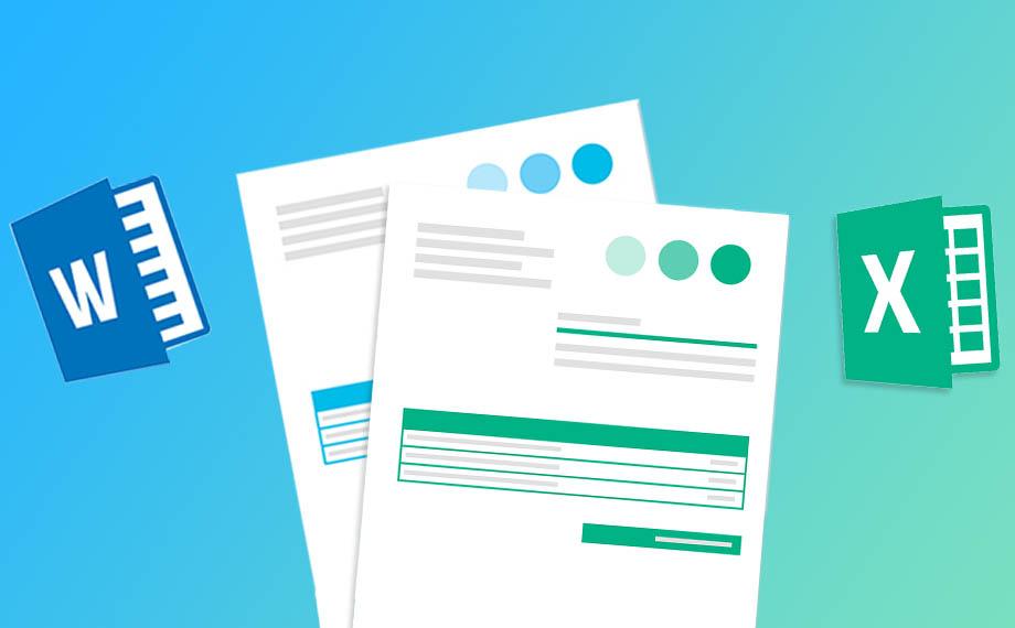 Software di fatturazione con modelli di fattura Word e Excel