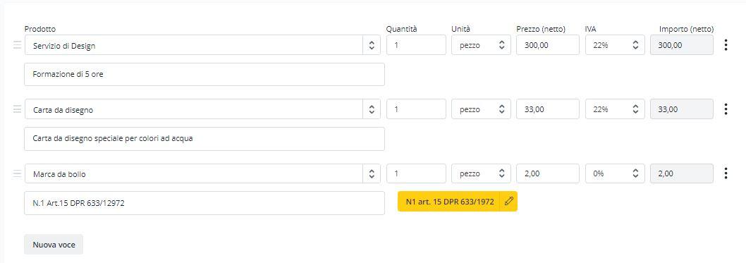 Modello di fattura fac simile Word e Excel Debitoor fatturazione