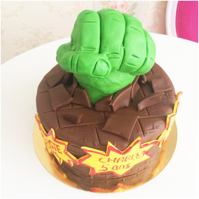 Decoration Gateau Chevalier Gâteau Hulk - Debogato Paris