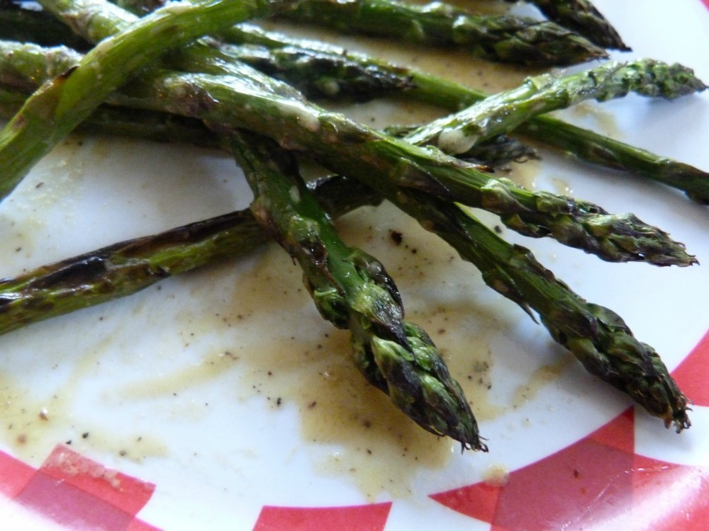 asparagus remnants