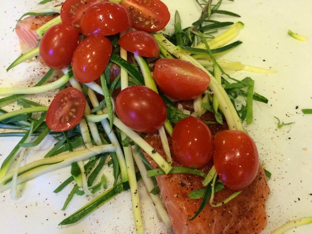 parchment salmon uncooked