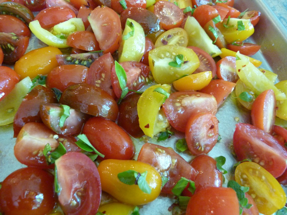tomatoes ready to roast