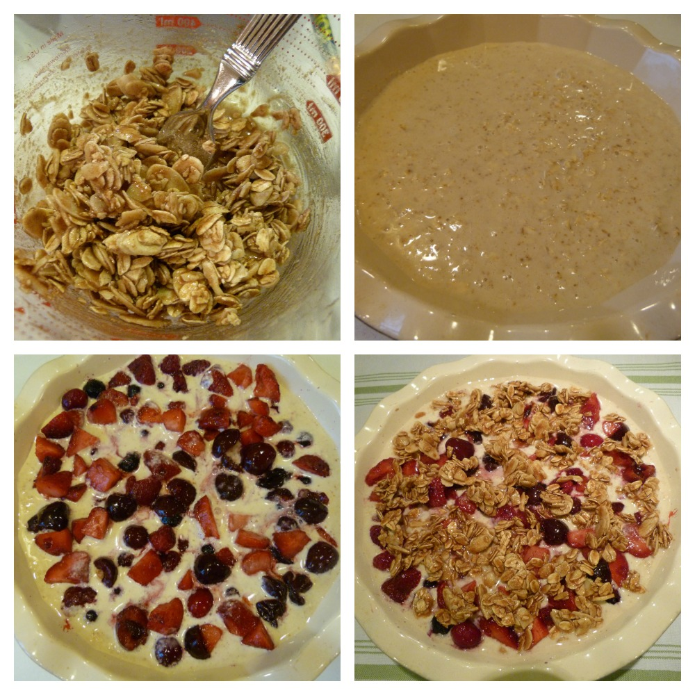 Berry Baked Oatmeal Collage