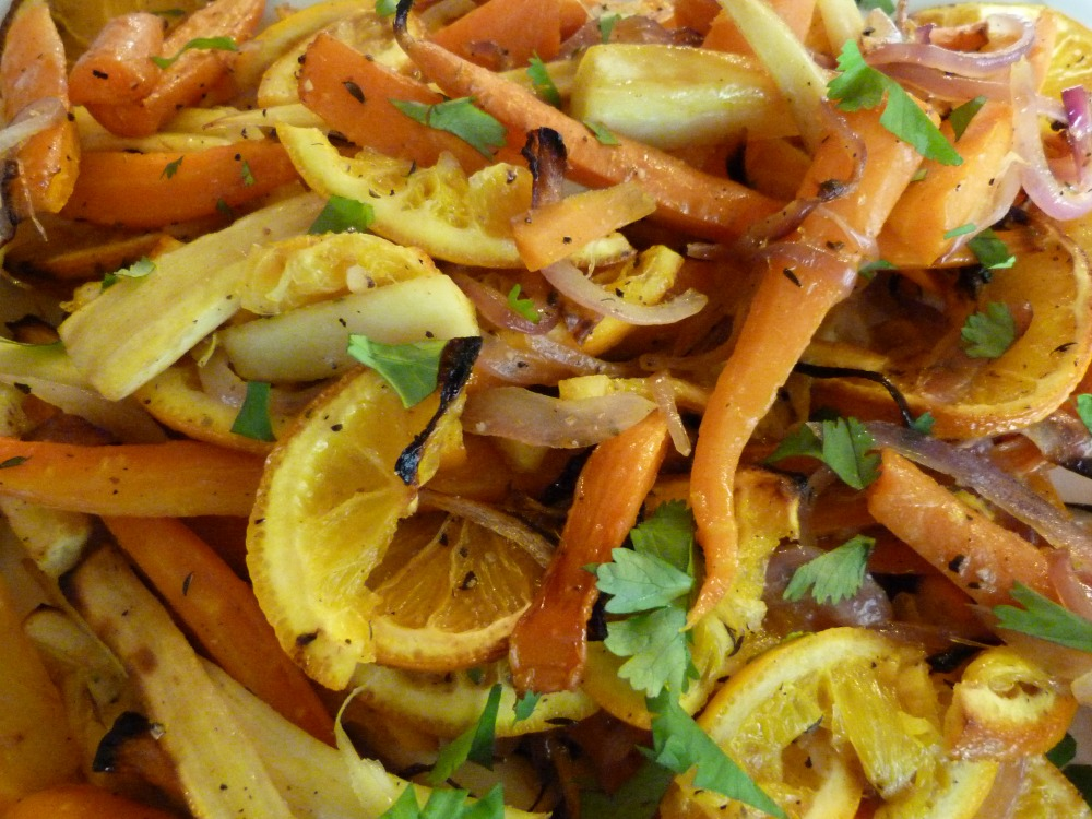 Roasted Roots Vegetables with Orange and Thyme