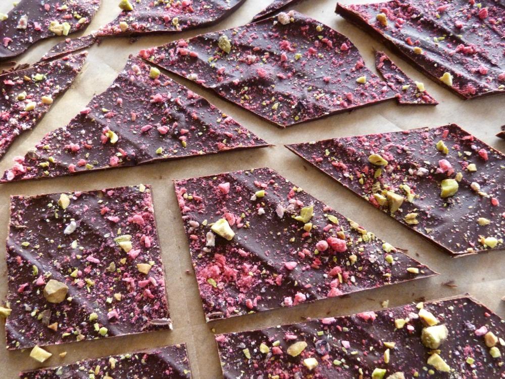 Festive Dark Chocolate Healthy Bark