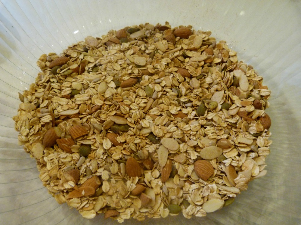 The essence of granola is old fashioned rolled oats.  Nutritious and disease fighting!